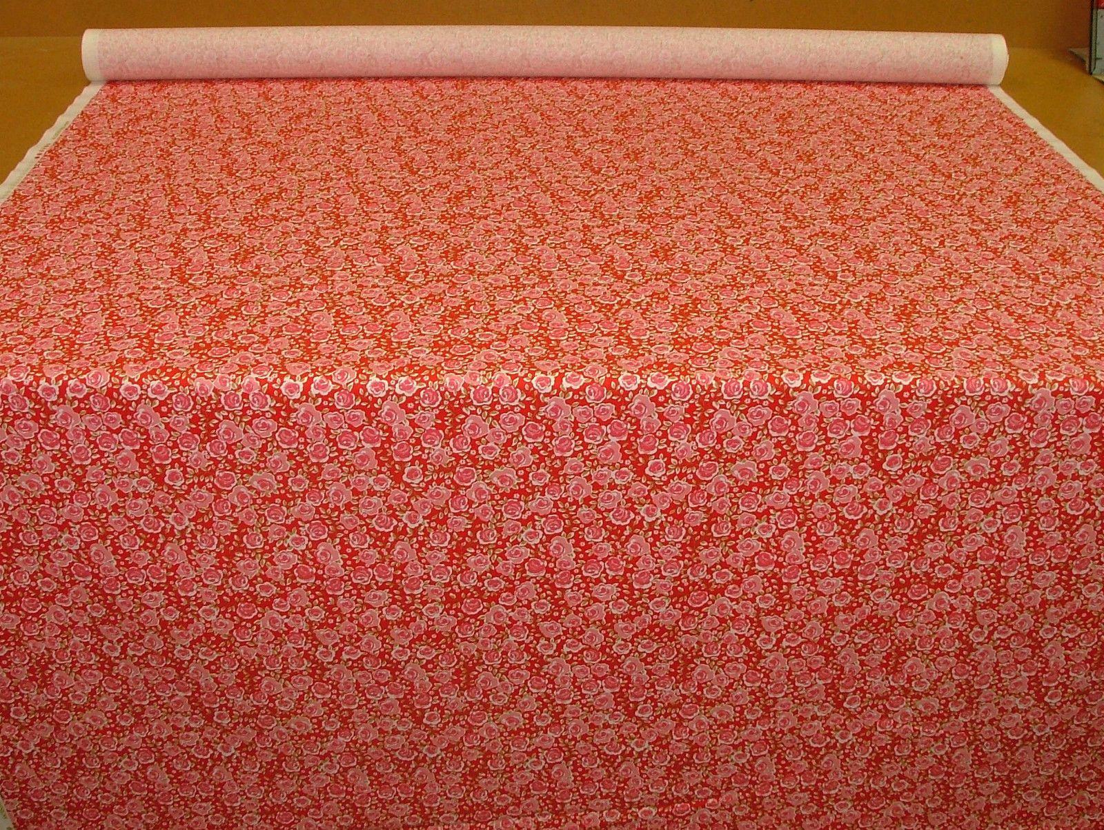 Ashley Wilde Summersdale Poppy 100% Cotton Soft Furnishing Curtain ...